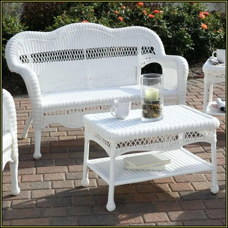 White Wicker Patio Furniture Home Depot