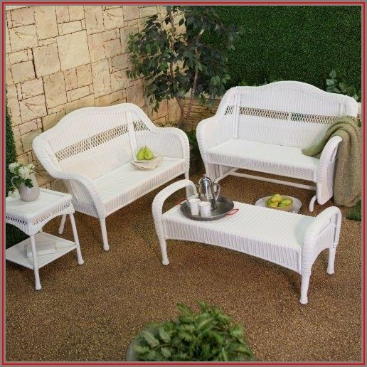 White Wicker Patio Furniture Walmart