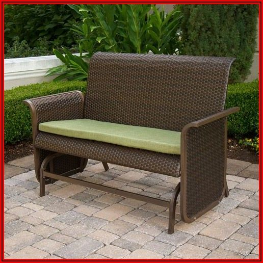 Wicker Glider Patio Set