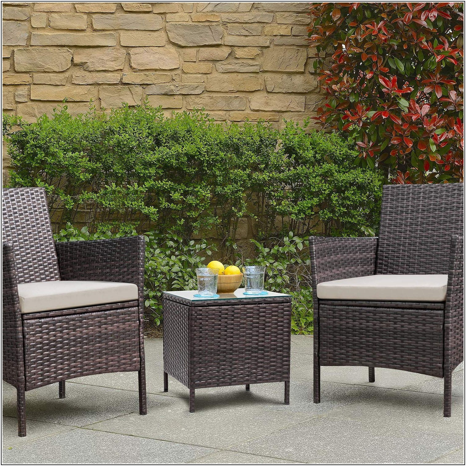 Wicker Patio Cushion Sets