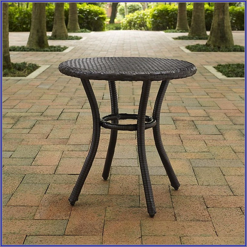 Wicker Patio End Tables