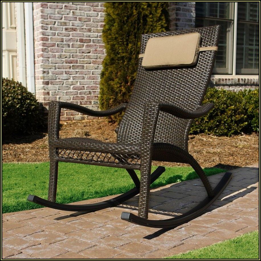 Wicker Patio Rocking Chair