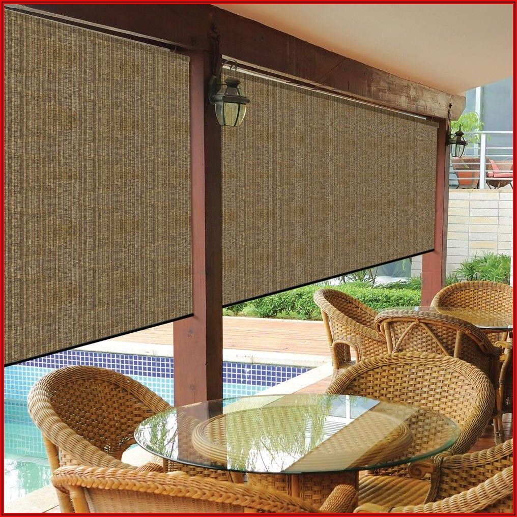 Wicker Shades For Patio