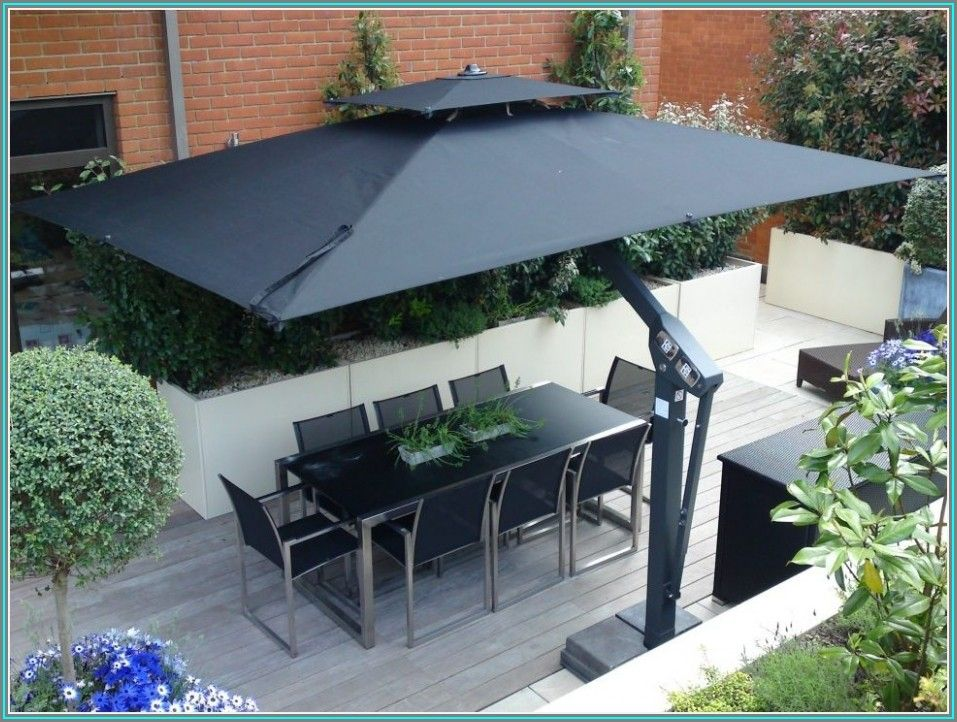 Wind Resistant Offset Patio Umbrella