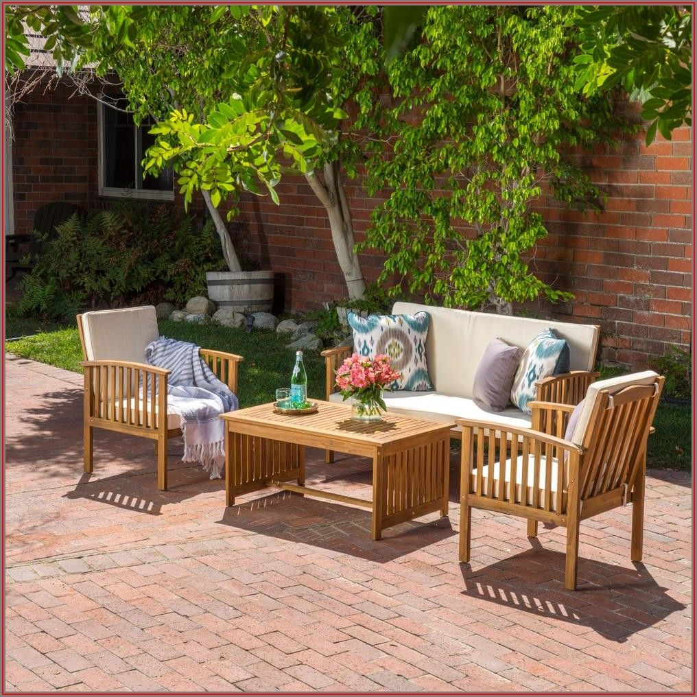 Wood Patio Conversation Sets