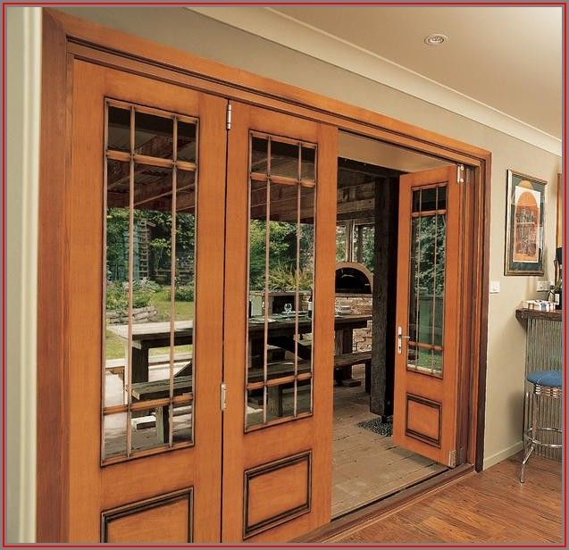 Wooden Exterior French Patio Doors