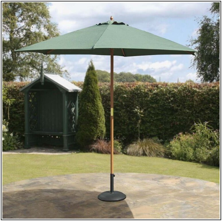 Wooden Patio Umbrella With Pulley