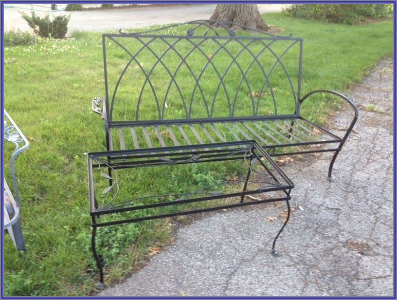 Wrought Iron Patio Furniture Plastic Feet