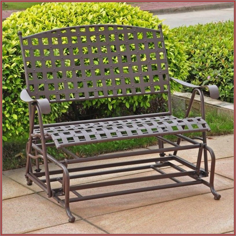 Wrought Iron Patio Glider