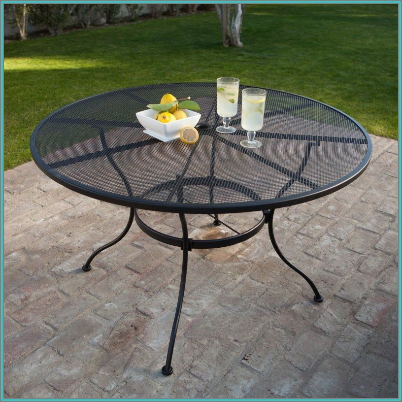 Wrought Iron Rectangular Patio Dining Table