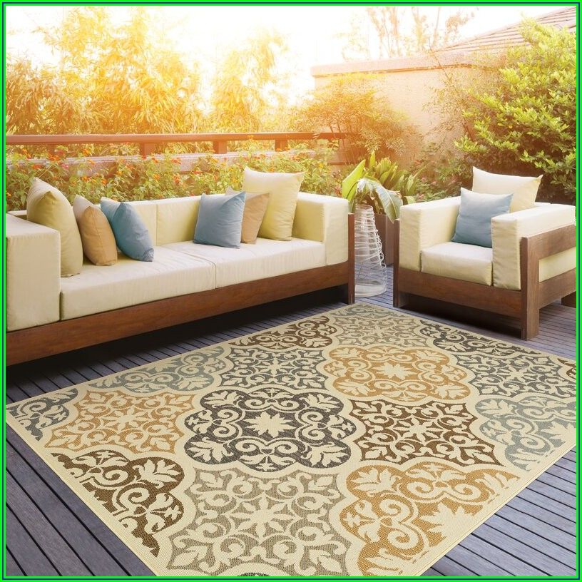 Yellow Outdoor Patio Rugs