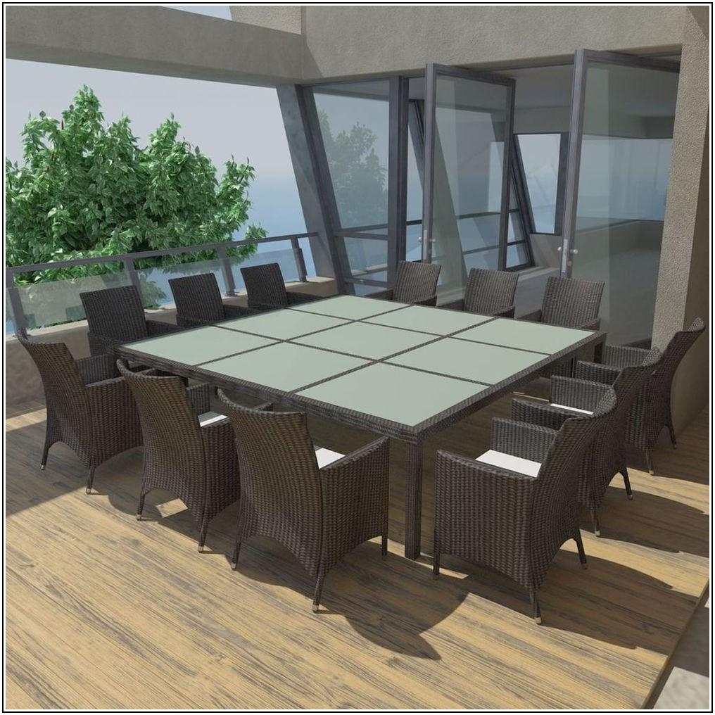12 Person Patio Table