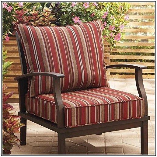 2 Piece Deep Seat Patio Chair Cushion
