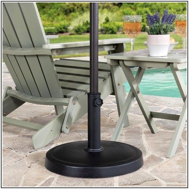 26 Lbs Patio Umbrella Base In Black