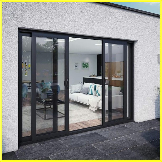 4 Panel Aluminium Sliding Patio Doors