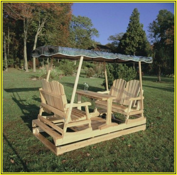 4 Person Patio Swing Glider