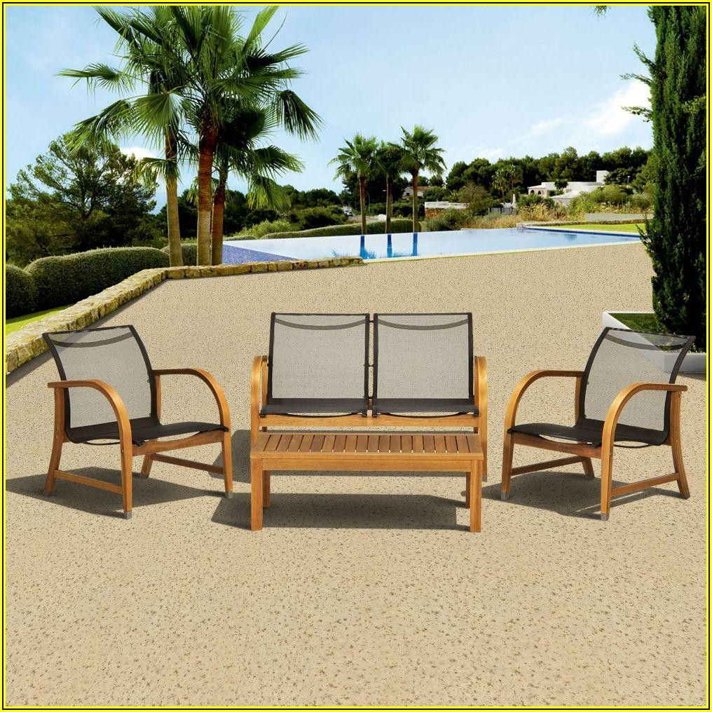 4 Piece Deep Seating Patio Set