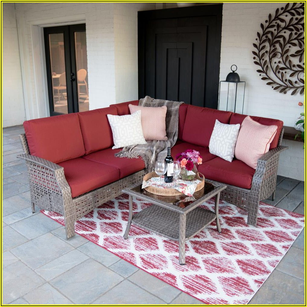 4 Piece Patio Sectional