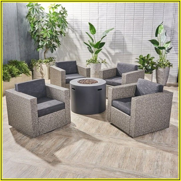 4 Piece Patio Set With Swivel Chairs