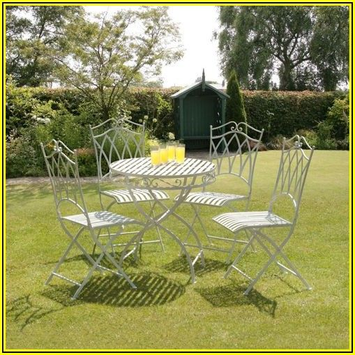 4 Piece Wrought Iron Patio Set