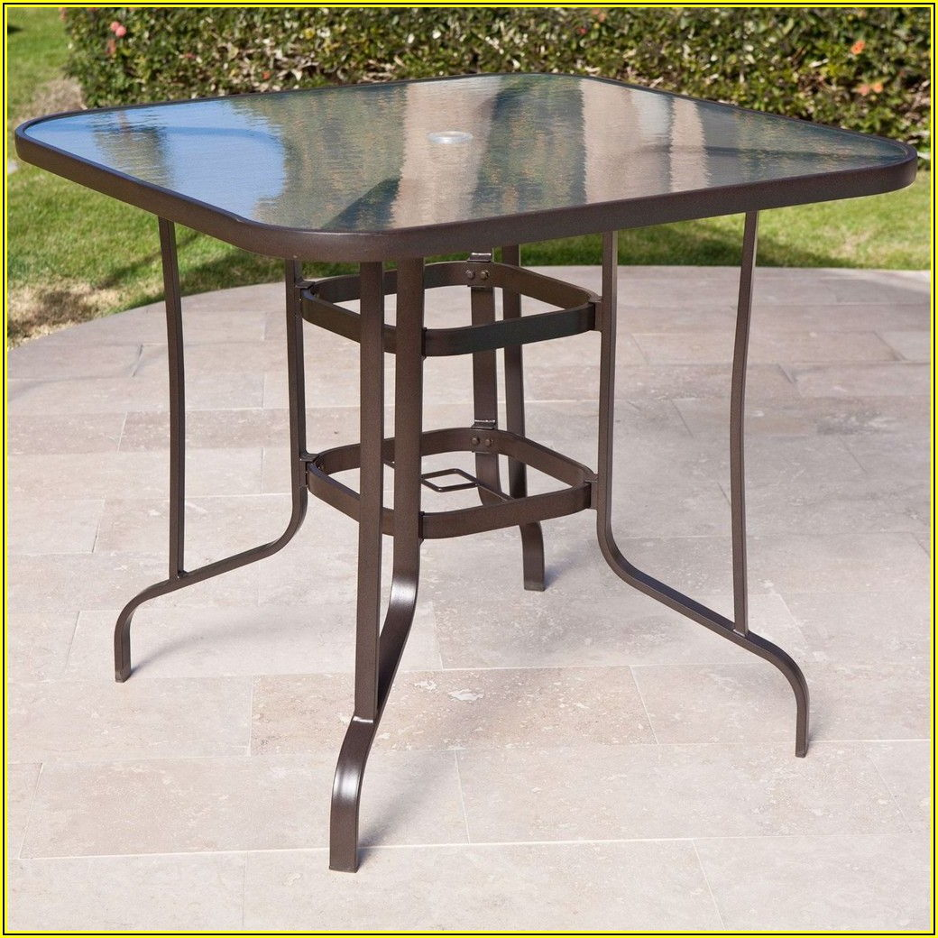 40 Inch Round Patio Table With Umbrella Hole