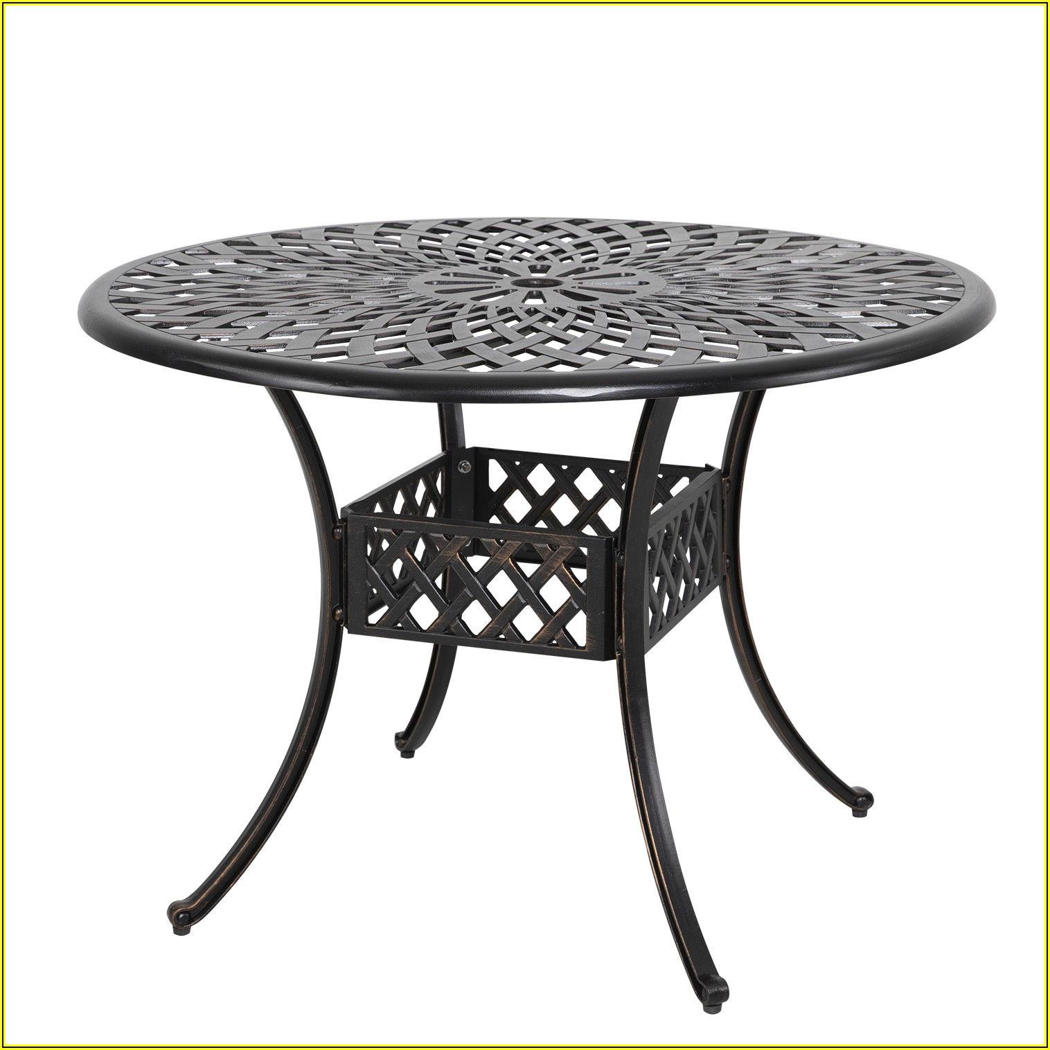 42 Inch Round Aluminum Patio Table