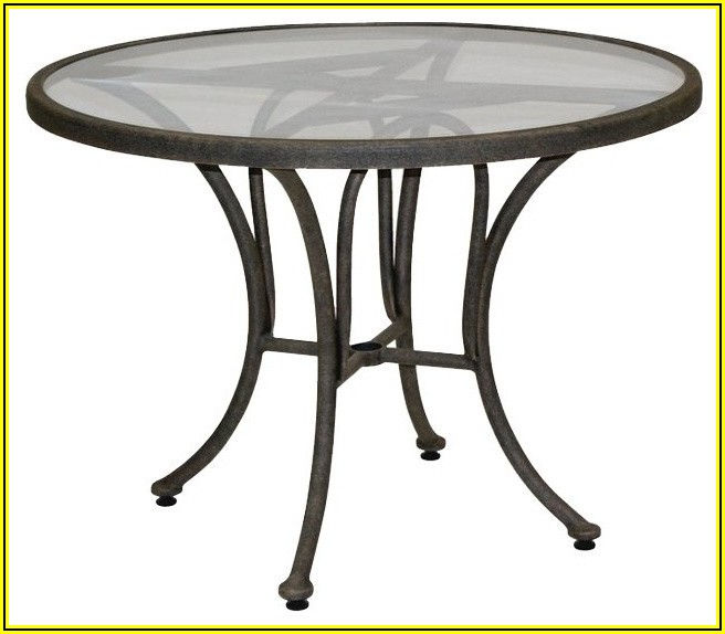 42 Inch Round Glass Patio Table