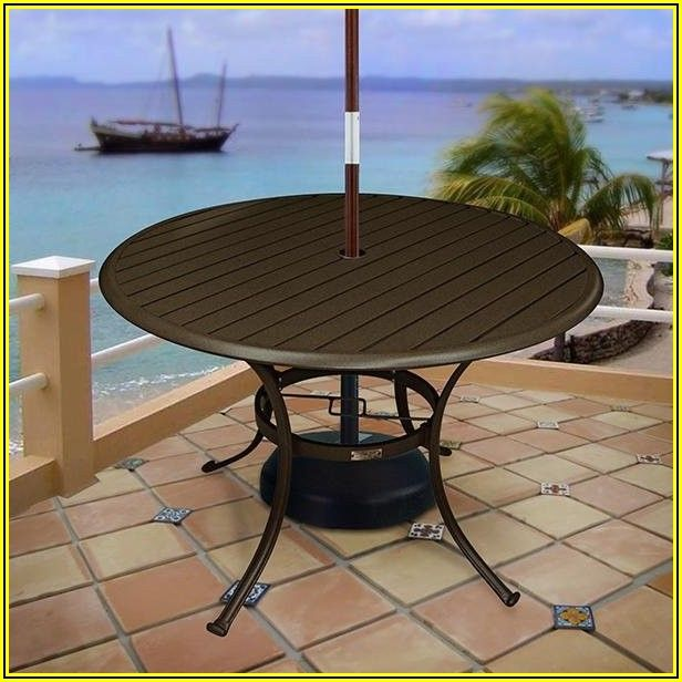 42 Inch Round Patio Table With Umbrella Hole