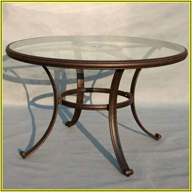 48 Inch Glass Patio Table