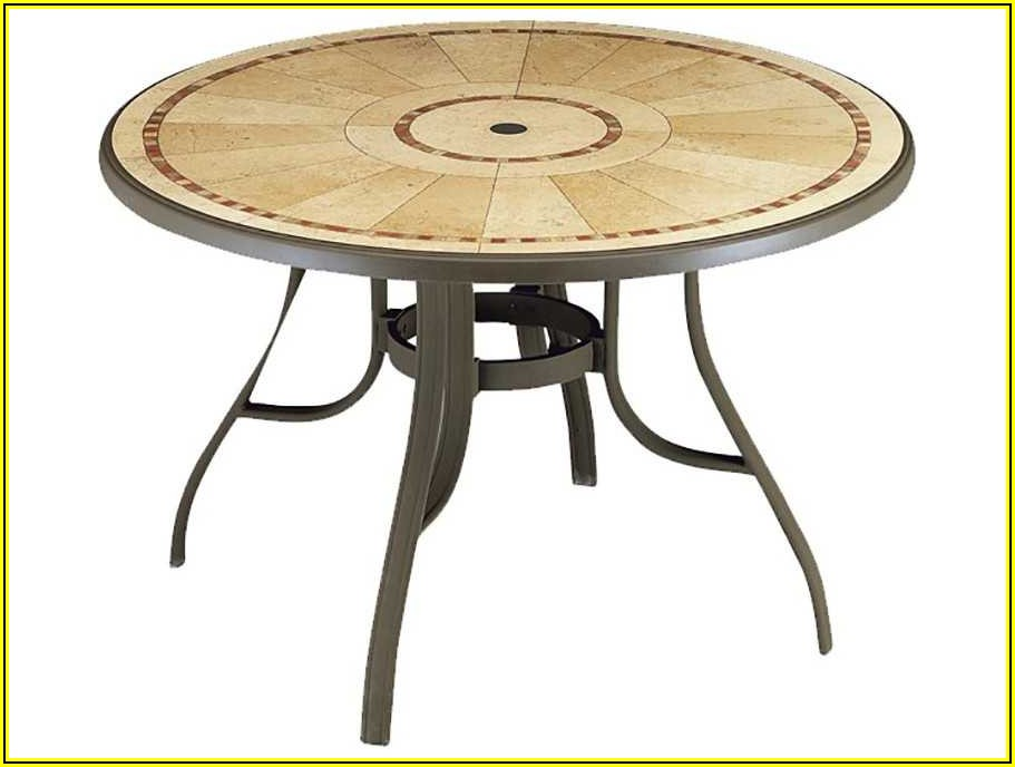 48 Inch Round Resin Patio Table