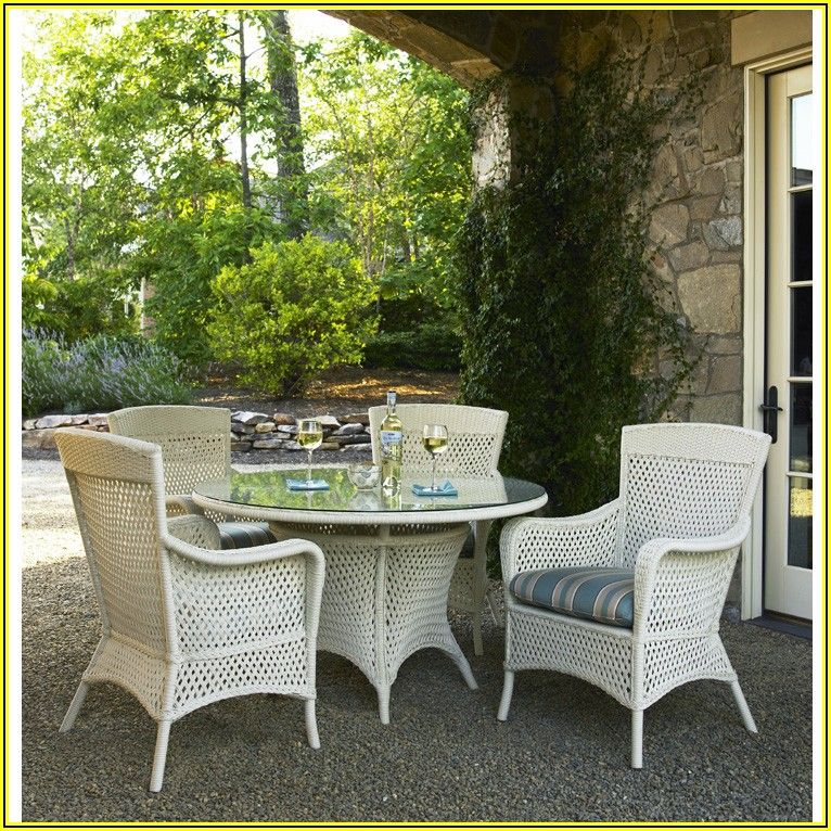 48 Inch Round White Patio Table