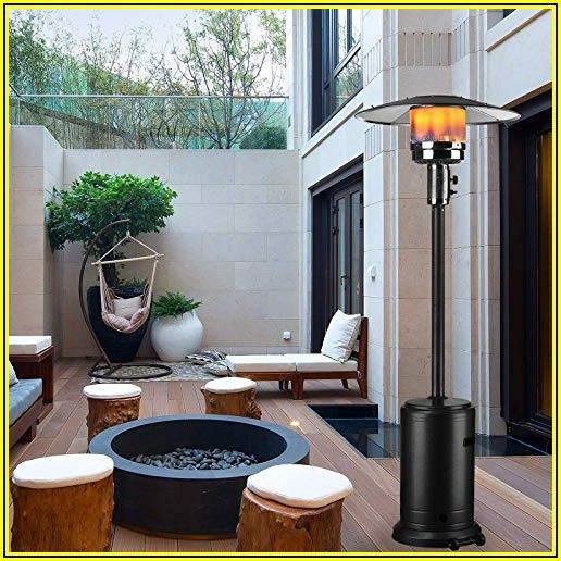 48000 Btu Stainless Steel Patio Heater Outdoor Propane Gas Floor Stand Heating