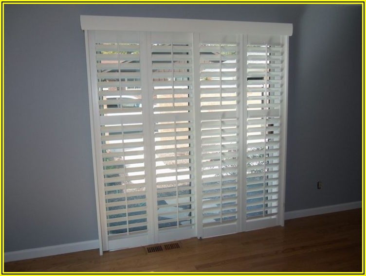 5 Foot Sliding Patio Door With Blinds
