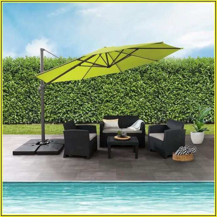 5 Ft Patio Umbrella With Stand