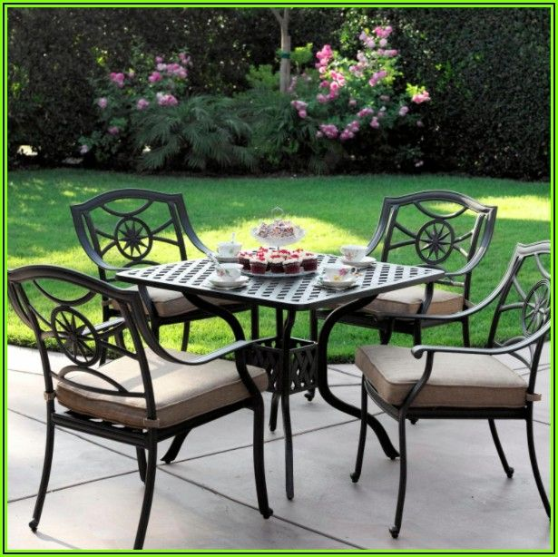 5 Piece Cast Aluminum Patio Furniture