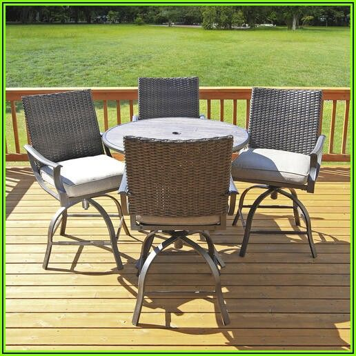 5 Piece High Top Patio Set