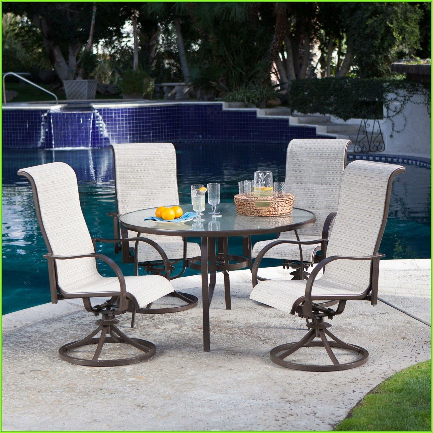 5 Piece Padded Sling Patio Dining Set