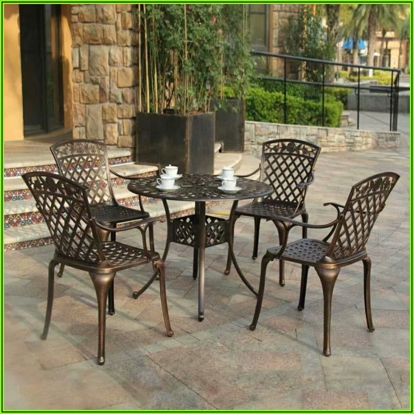 5 Piece Patio Table And Chair Set