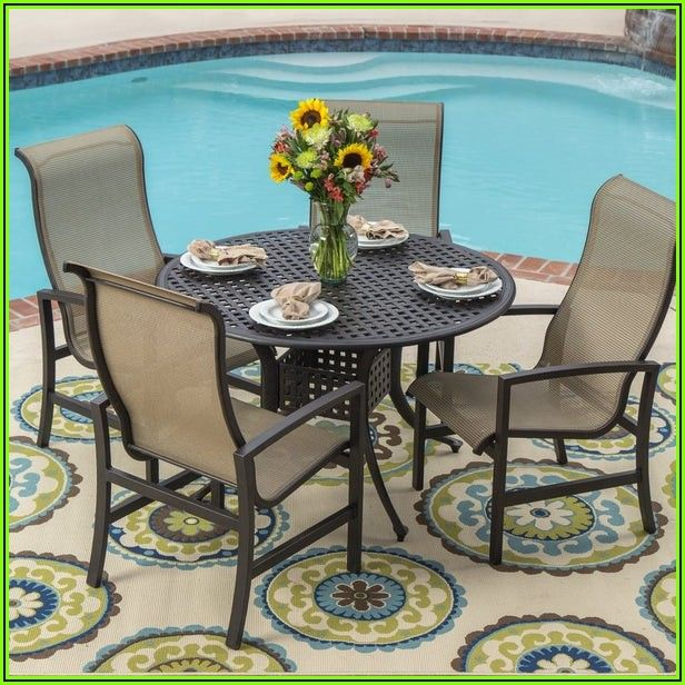5 Piece Patio Table And Chairs