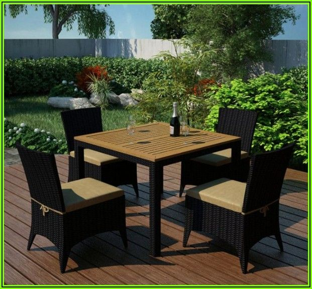 5 Piece Resin Wicker Patio Set