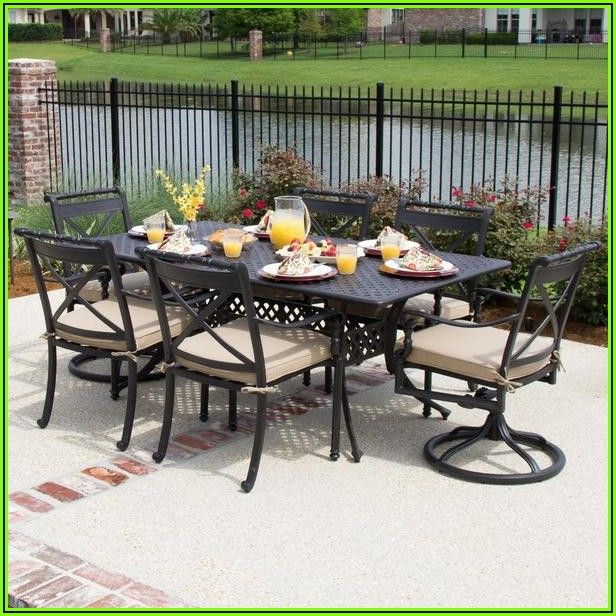 6 Person Patio Dining Table Set