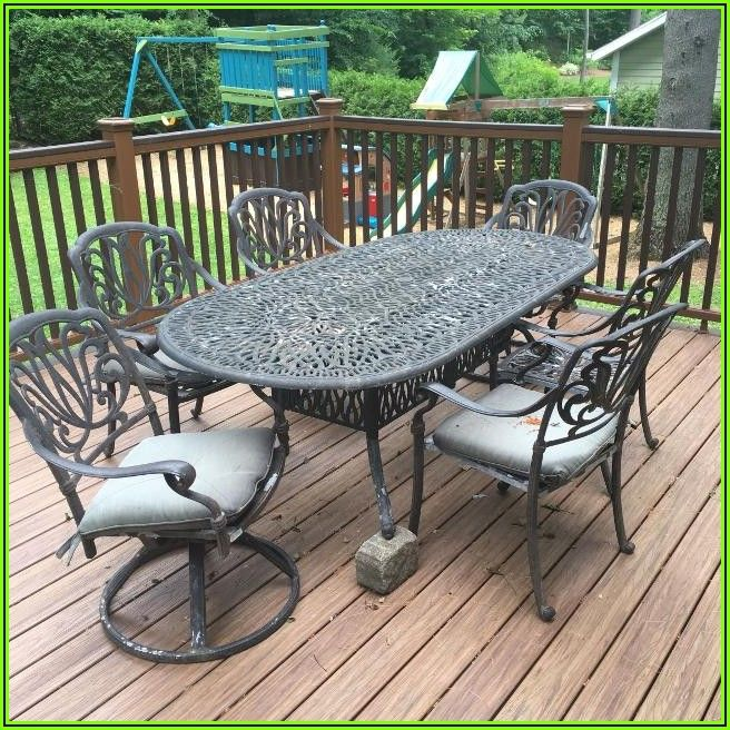6 Piece Wrought Iron Patio Set