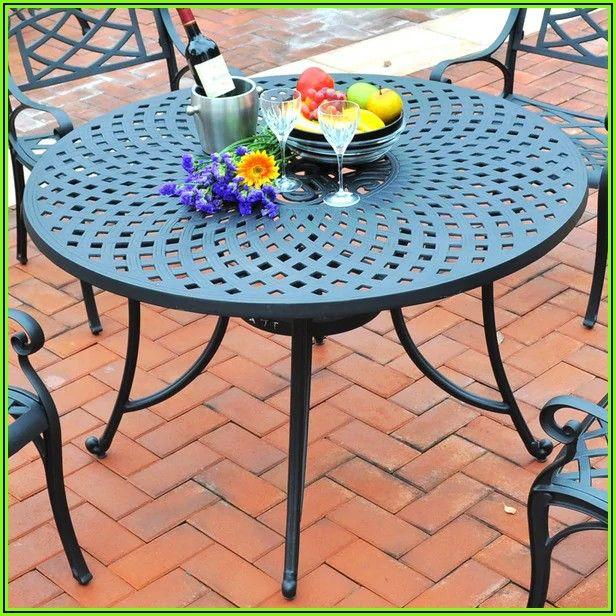 60 Inch Round Cast Aluminum Patio Table