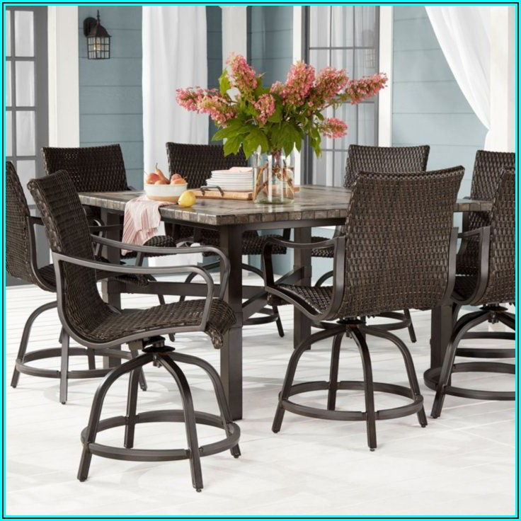 7 Piece Balcony Height Patio Set