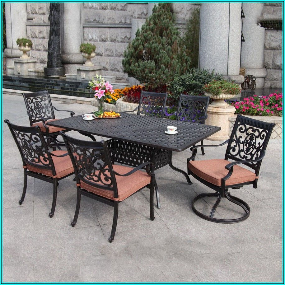 7 Piece Cast Aluminum Patio Sets