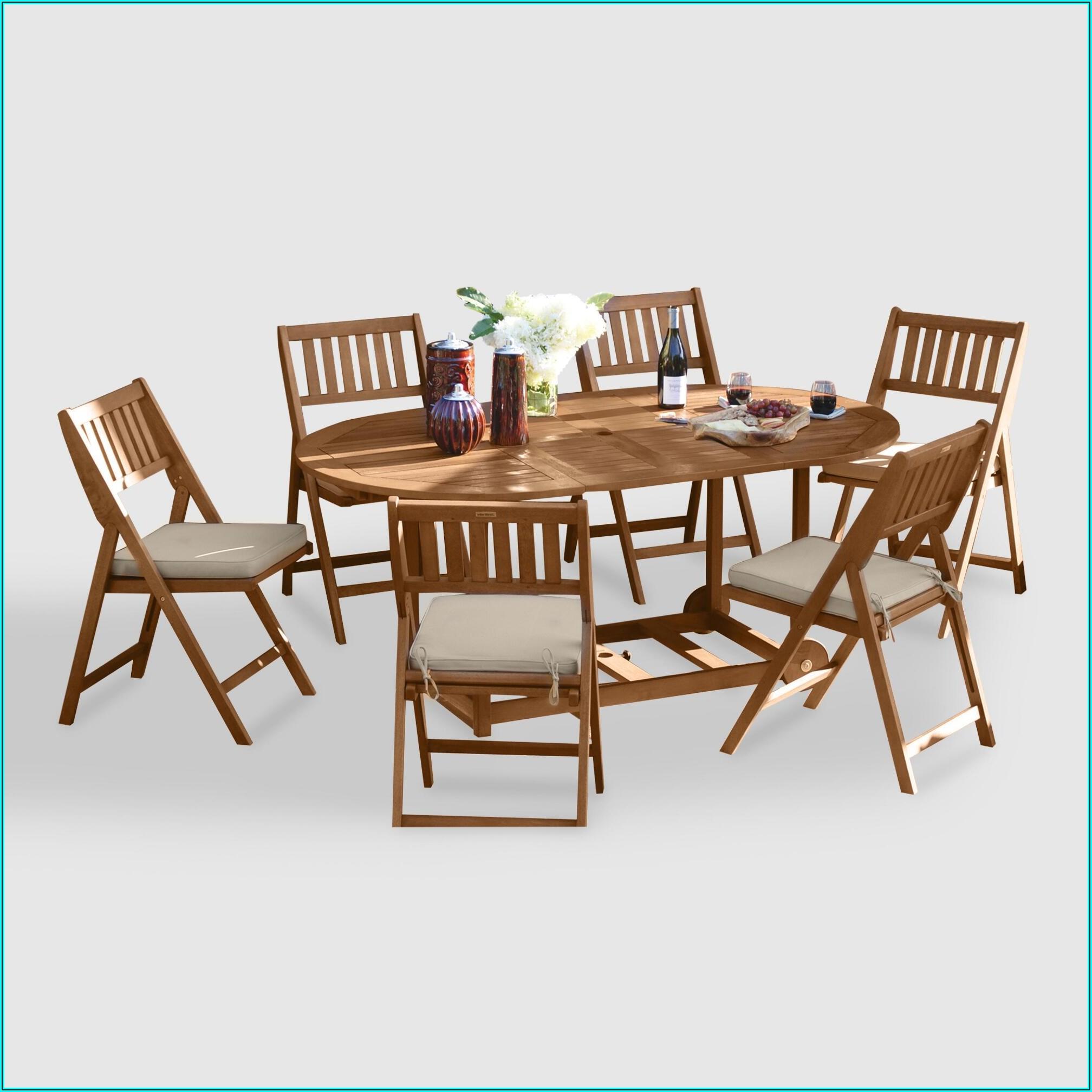 7 Piece Folding Patio Dining Set