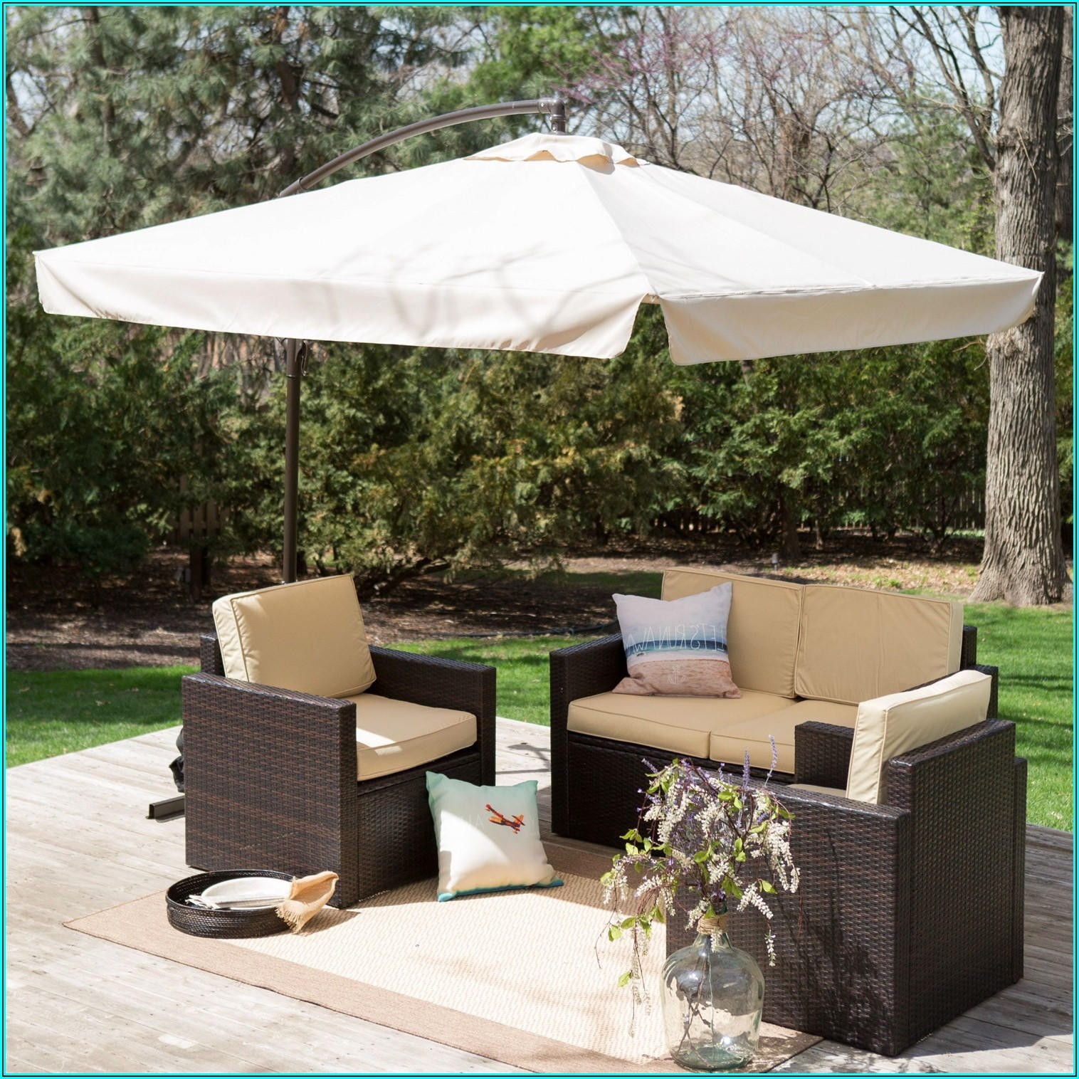 8 Foot Square Patio Umbrella