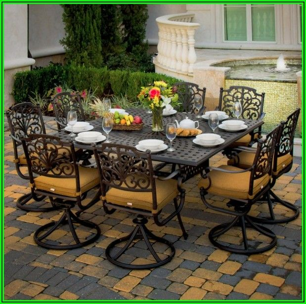 8 Person Outdoor Patio Dining Set