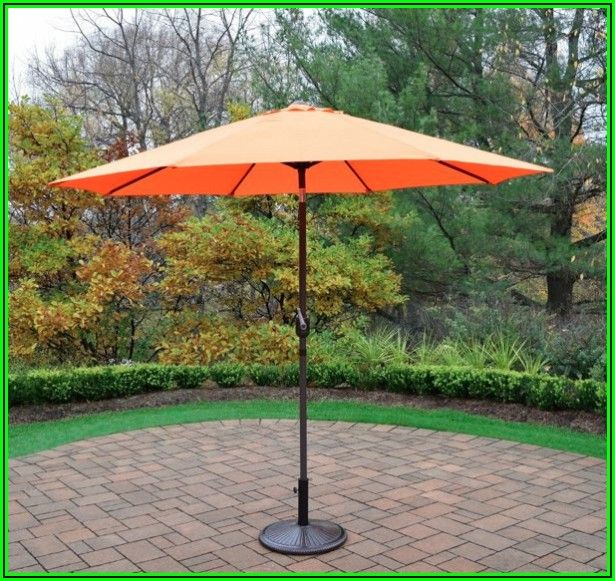 9 Ft Orange Patio Umbrella