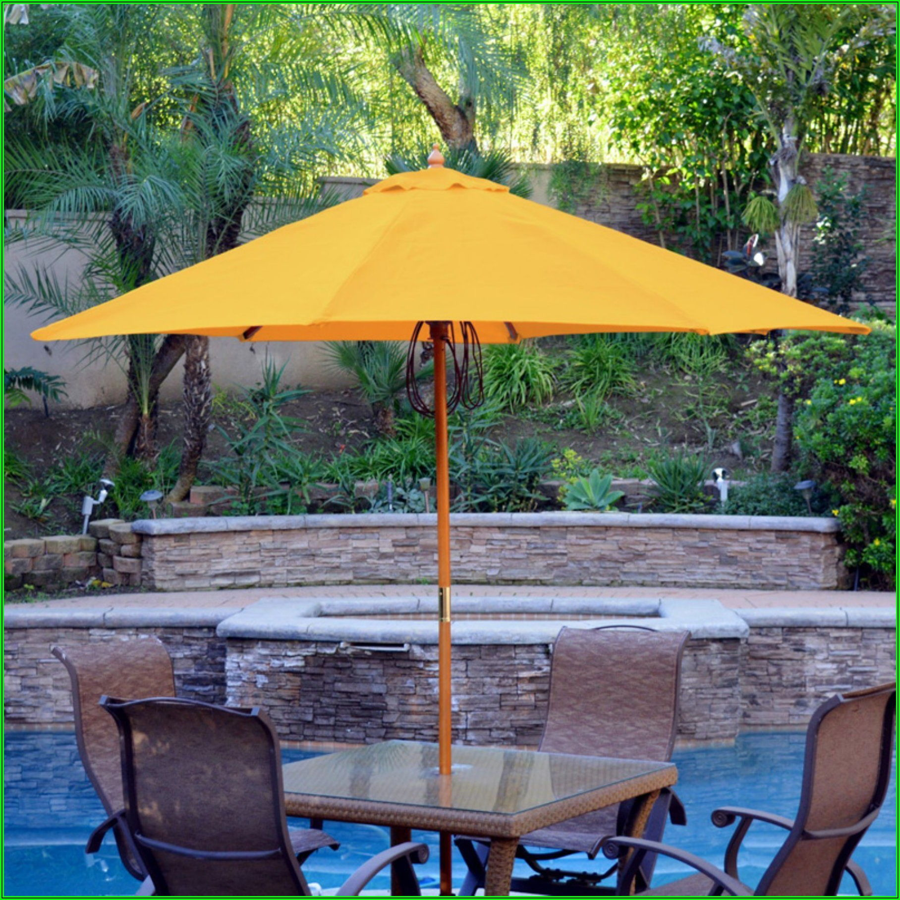 9 Ft Rectangular Patio Umbrella